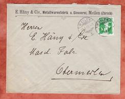 Vordruckbrief, Tellknabe, Meilen Nach Obermeilen 1913 (3062) - Covers & Documents