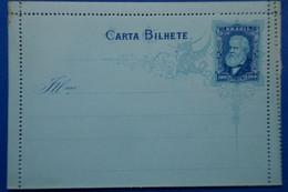 58 BRESIL 1880 Entier Brazil Belle Carte Lettre Illustrée CARTA BILHETE AVEC GOMME NON VOYAGEE - Briefe U. Dokumente
