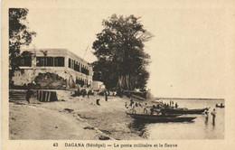 DANAGA (Senegal) Le Poste Militaire Et Le Fleuve Recto Verso - Senegal