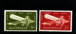 AUSTRALIA - 1964  FIRST AUSTRALIAN AIRMAIL FLIGHT  SET MINT NH - Ongebruikt