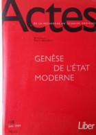 Actes De La Recherche En Sciences Sociales N° 118 : Genese De L'etat Moderne (sans Le Supplément Liber) - Politics