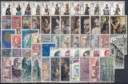 ESPAÑA 1970 Nº 1949/2007 AÑO COMPLETO USADO CON TRAJES 59 SELLOS - Full Years