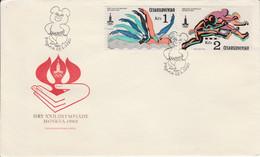 TCHECOSLOVAQUIE FDC 1980 J O MOSCOU POUR LA FRANCE - Covers & Documents