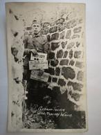 Argonne Tranchée Allemande German Trench Avec Murs Maçonnés - Soldat Américain US Army WW1 - Carte Photo - War 1914-18