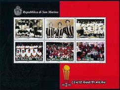 SAINT-MARIN - SAN MARINO 1999 - Football, Centenaire De L'AC MILAN - BF** - Ongebruikt