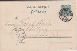 DR Krone/Adler Ganzsache P 20 Elsass K1 Markolsheim France 1890 - Stamped Stationery