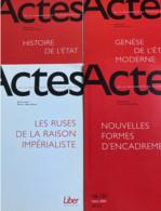 Actes De La Recherche En Sciences Sociales (P. Bourdieu) N° 101-102/110/111-112 /113 /116-117 /118/121-122/136-137/141-1 - Politics