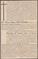 Oorlogs Slachatoffer Emiel Reynders Geb Meensel Kiezegem   16 Mei 1906 Gevallen In 'Tkamp Neuengomme Op 17 Jan 1945 Beg - Unclassified