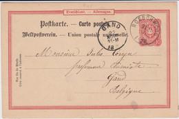 DR Pfennig Ganzsache P 14 Elsass K1 Roeschwoog France 1890 - Stamped Stationery