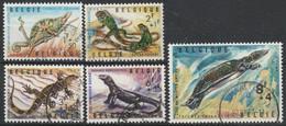 1344/1348 Reptiles /Reptielen Oblit/gestp - Oblitérés