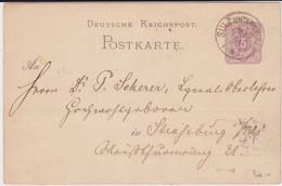 DR Pfennig Ganzsache P 12 Elsass K1 Sulz Unterm Wald France 1884 - Stamped Stationery
