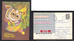 Russia   Stamped Stationery .Cat.Happy New Year !    (10) - Hauskatzen
