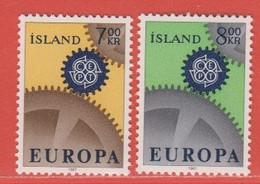 1967 ** Islande  (sans Charn., MNH, Postfrish)  Yv  364/5Mi  409/10FA  446/7 - Unused Stamps