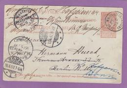ENTIER POSTAL DE BRUGES POUR BERLIN,ENSUITE HOFGEISMAR,FINALEMENT POUR BONN. - Cartes Postales [1871-09]