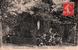 CPA - PLOËRMEL - Pensionnat Du Sacré-Cœur - La Grotte ... - Edition J.David - Ploërmel