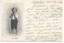 """L130b591 - Bébé Découvrant Les 5 Sens """"Le Goût"""" - Editeur J.W Caprice N°63 - Carte Précurseur - Altri"""