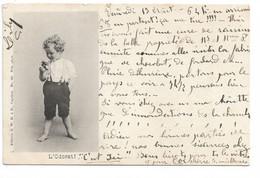 """L130b592 - Bébé Découvrant Les 5 Sens """"L'Odorat"""" - Editeur J.W Caprice N°62 - Carte Précurseur - Altri"""