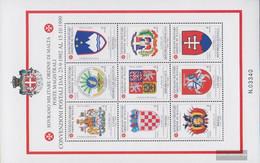 Order Of Malta (SMOM) Catalog-number.: 790-798 Sheetlet (complete Issue) Unmounted Mint / Never Hinged 2002 Postabkommen - Malte (Ordre De)