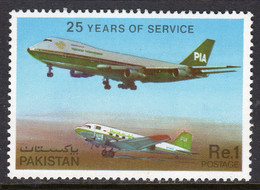 Pakistan 1980 25th Anniversary Of PIA Airlines, MNH, SG 512 (E) - Pakistán
