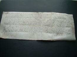 MANUSCRIT..Grand PARCHEMIN VELIN XVIe SIECLE 1590 NORMANDIE, VICOMTE AVRANCHES, SAINT JAMES ( MANCHE 50) à Déchiffrer - Manoscritti