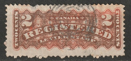 Canada 1875 Sc F1  Registration Used Oxidized Ring Cancel - Recomendados