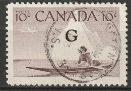 Canada 1961 Sc O39a  Official Used NS CDS - Surchargés