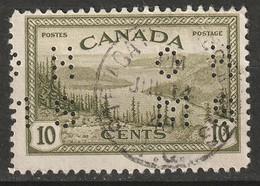 Canada 1946 Sc O269  Official Perfin Used Ste Agathe Des Monts QC CDS - Perforés