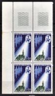 FRANCE 1971 - BLOC DE 4 TP / Y.T. N° 1682 - NEUFS** / COIN DE FEUILLE - Unused Stamps