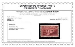 Signé CALVES + Certificat - YV 262 Type IIB N** Luxe , Pont Du Gard , Cote 550 Euros - Nuovi