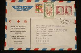 Algérie Lettre Tlemcen 19/6/1962 En Tête  Croix Rouge Red Cross Vers Suisse - War Of Algeria