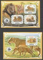 PA001 2019 LIONS WILD CATS FAUNA ANIMALS BL+KB MNH - Raubkatzen