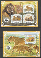 PA001 2019 LIONS WILD CATS FAUNA ANIMALS BL+KB MNH - Felinos