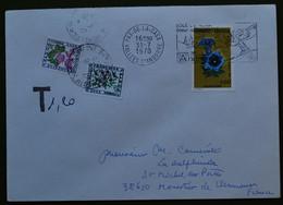 Lettre D'ANDORRE De 1978 Timbre Gentiane N° 245 - Taxée En France - Timbres Taxe N° 98 & 102 - Cartas