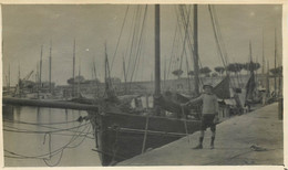Les Sables D'Olonne (85) ? Lot De 4 Photos Originales Prises En Aout 1915 - Plage, Ane, Voilier à Situer - Plaatsen