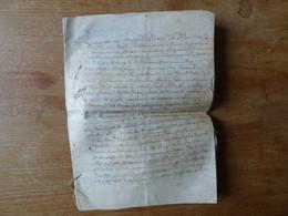 1654 Cahier Sur Velin Contrat  Lieu  Bragerac  En Périgord - Manuscripts