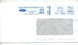 Lettre Flamme Ema Illzach Ligne Bleue Automobile Ford Mazda - EMA (Printer Machine)