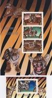 MDA-BK2-181-2 MINT ¤ KOREA 1982  IMPERF. SET (RARE)  ¤ ENDANGERED SPECIES WILD ANIMALS - ANIMALS OF THE WORLD - SEE SCAN - Raubkatzen