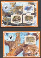 PA027 2019 PANTHERS WILD CATS FAUNA ANIMALS BL+KB MNH - Felinos