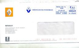 Lettre Flamme Ema Montbeliard Renault Créateur Automobile - EMA (Printer Machine)