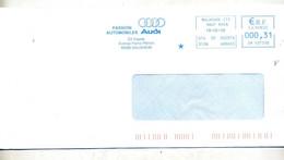 Lettre Flamme Ema Mulhouse Passion Automobile Audi - EMA (Printer Machine)