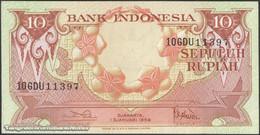 TWN - INDONESIA 66 - 10 Rupiah 1.1.1959 Prefix GDU UNC - Indonesia