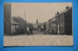 Gedinne 1909: La Rue De La Station Animée - Gedinne