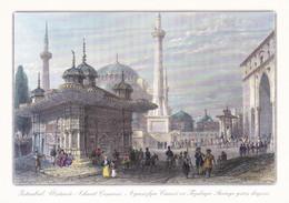 ISTANBUL AHMET CESMISI ,AYASOFYA CAMII VE TOPKAPI SARAYI KAPISI COULEUR REF 69393 - Turkije