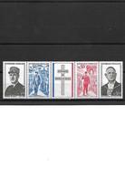 1583 Anniversaire De L Amort Du Général De Gaulle 1971 YT 1698 A La Bande Complète Neuf ** - Unused Stamps