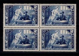 YV 307 N** En Bloc De 4 , Chomeurs Intellectuels Cote 24+ Euros - Unused Stamps