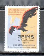 Erinophilie, Vignette Aviation, Semaine D'aviation De La Champagne, Reims 1910 - Aviation
