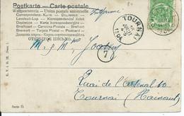 Fantasiekaart Met OCB 56 - Afstempeling HECHTEL - COBA 8 - 1893-1907 Wappen