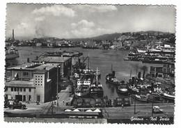 8427 - GENOVA NEL PORTO ANIMATA BOAT SHIP 1958 - Genova (Genoa)