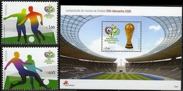 Soccer Football Portugal #3056/6 + Bl 240 2006 World Cup Germany MNH ** - 2006 – Duitsland