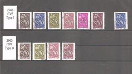 Marianne LAMOUCHE 2005. Légende ITVF. Y&T N° 3754 à 3759 + 3807. Type I Et II. Oblitérés. TB. - 2004-08 Marianne Van Lamouche